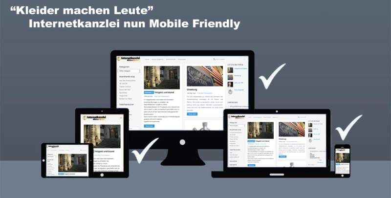 Internetkanzlei ist nun 100% Mobile friendly
